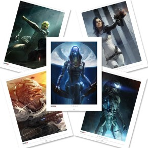Mass Effect Lithographs Gave Our Living Room Some POW!