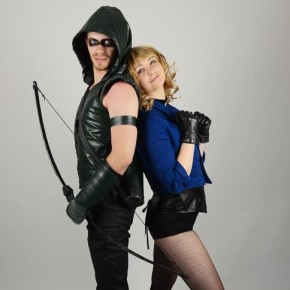 Emily & Peter in Black Canary & Green Arrow Cosplay!