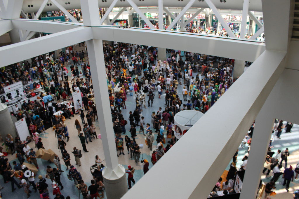 Crowd shot of Anime Expo 2014