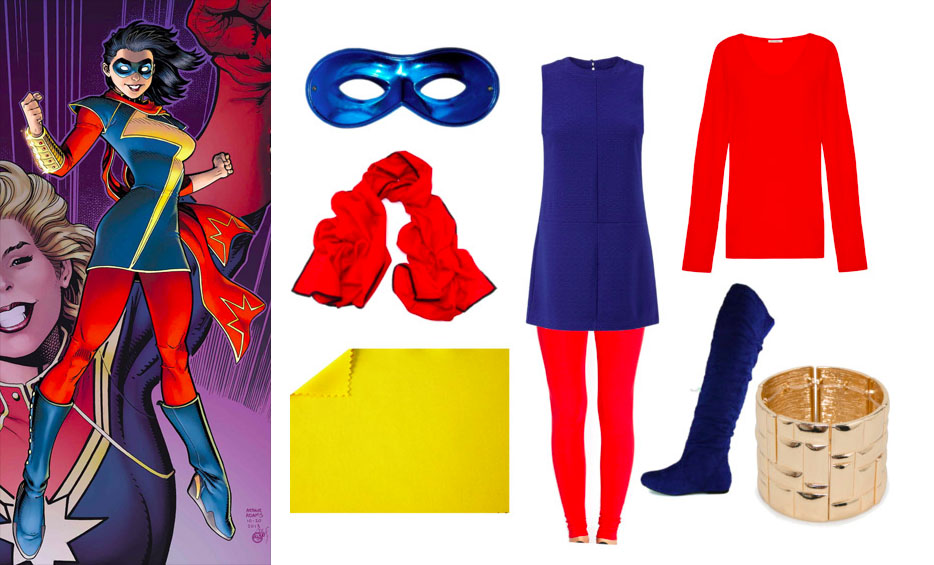Easy Kamala Khan Ms. Marvel Halloween Costume