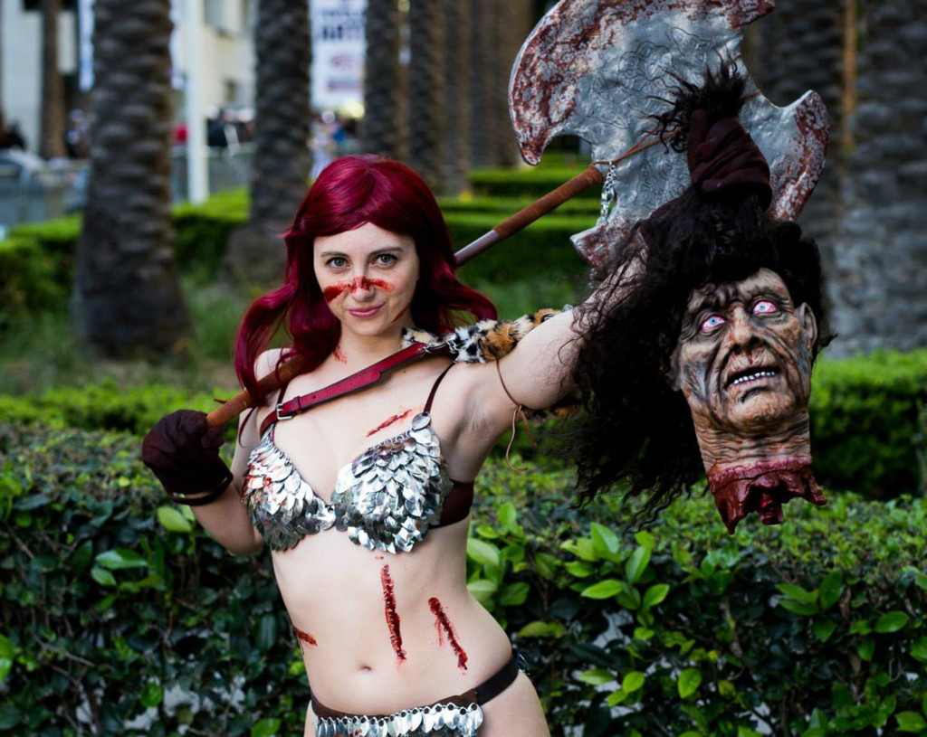 Red Sonja in the Women of Comicbook Cosplay Calendar