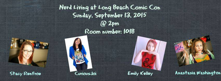 Join Emily for the Nerd Living Panel at Long Beach Comic Con