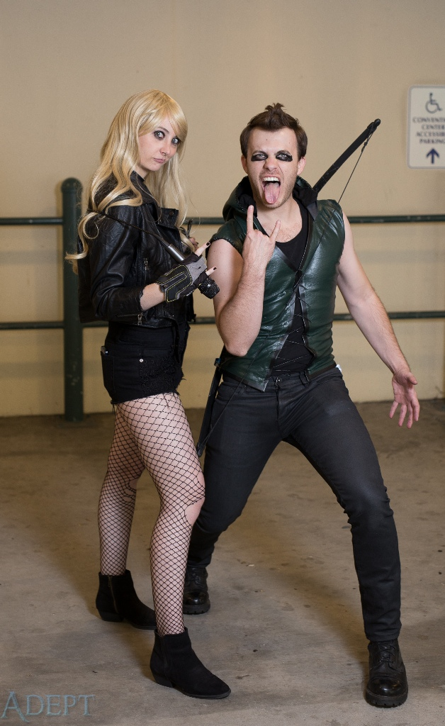 Punk Rock Black Canary and Green Arrow
