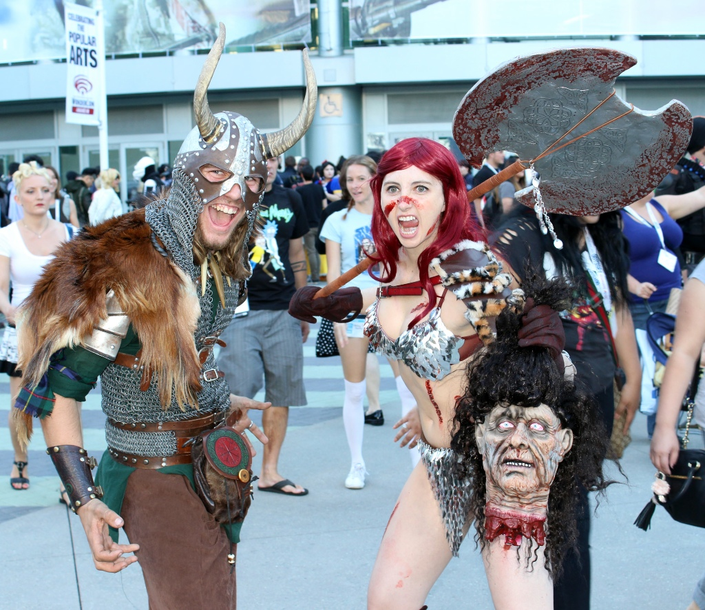 Red Sonja found a fellow barbarian