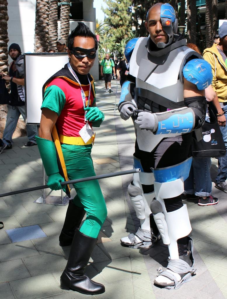 Robin and Cyborg
