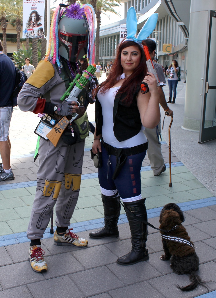 Boba Fett, Han Solo, and Dog Chewie